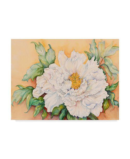 "Trademark Global Joanne Porter 'A Peony Study' Canvas Art - 24"" x 18"" x 2"""