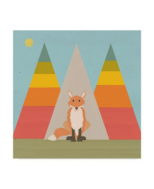 "Trademark Global Tammy Kushnir 'Fox In The Rainbow Forest' Canvas Art - 14"" x 14"" x 2"""