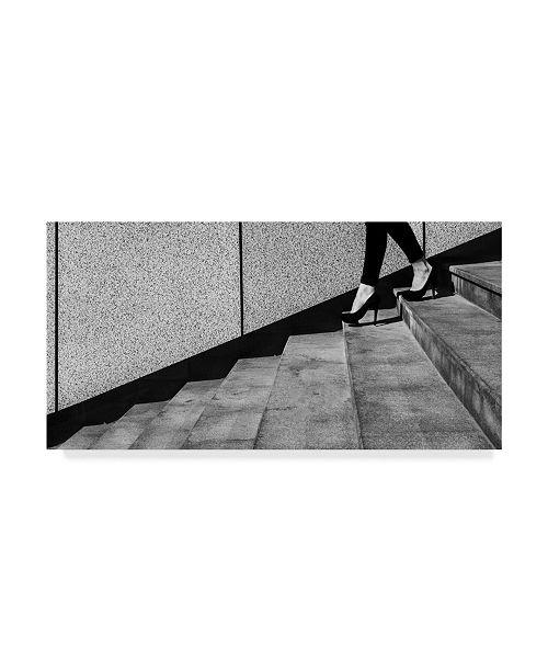 "Trademark Global Mikhail Potapov 'High Heels In Staircase' Canvas Art - 10"" x 19"" x 2"""