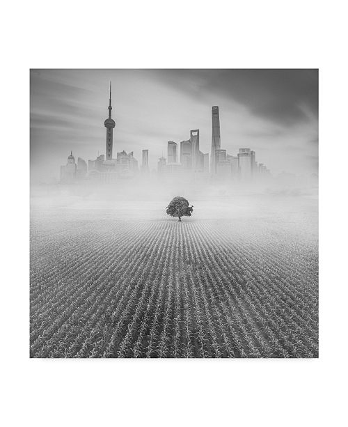 "Trademark Global Moises Levy 'Alone In Shanghai' Canvas Art - 35"" x 35"" x 2"""