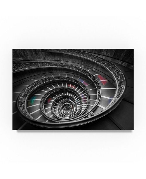 """Trademark Global Moises Levy 'Vatican Stair 1 Colors' Canvas Art - 47"""" x 30"""" x 2"""""""
