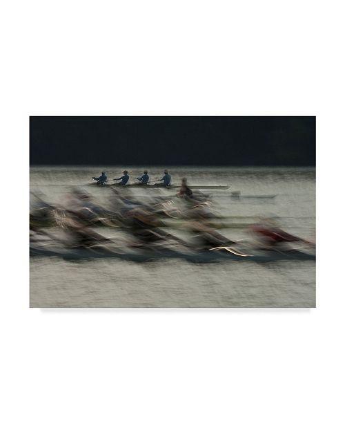 "Trademark Global Milan Malovrh 'Rowing Workers' Canvas Art - 19"" x 2"" x 12"""