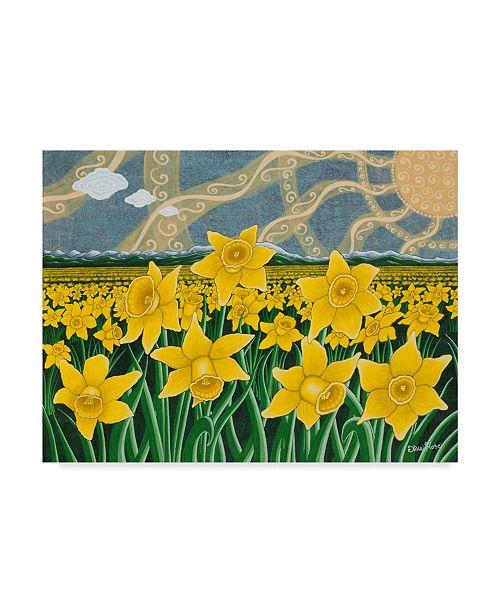 "Trademark Global Jake Hose 'Daffodil Field' Canvas Art - 24"" x 18"" x 2"""