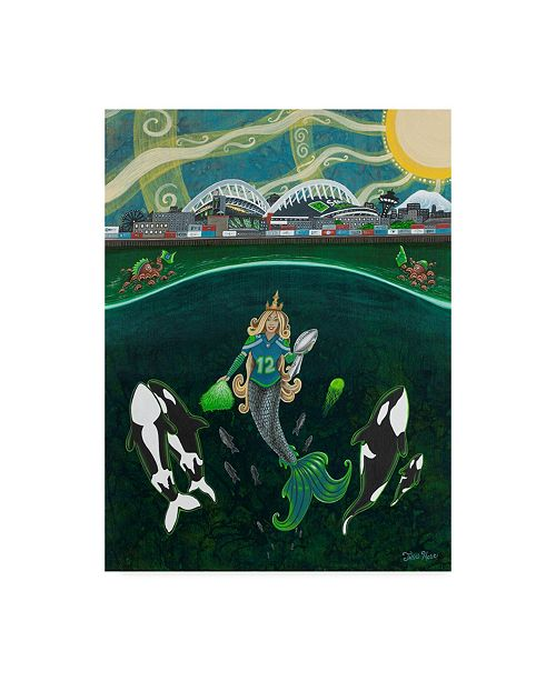 "Trademark Global Jake Hose 'Th Mermaid' Canvas Art - 24"" x 18"" x 2"""