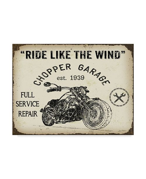 """Trademark Global Jean Plout 'Ride Like The Wind' Canvas Art - 24"""" x 18"""" x 2"""""""
