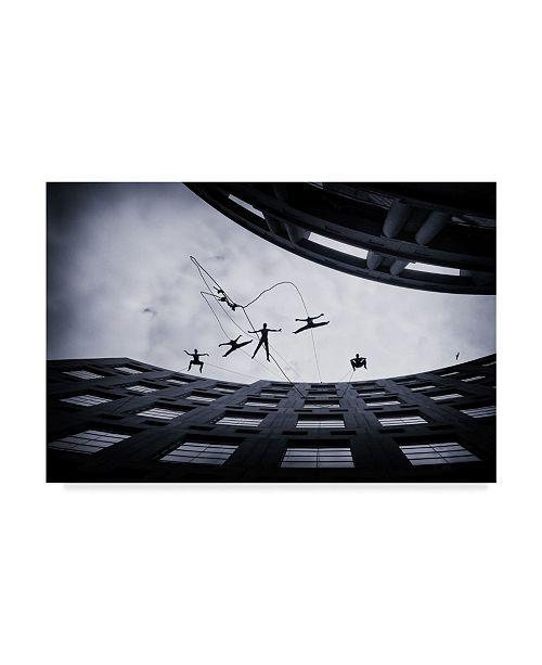 """Trademark Global Jianwei Yang 'Dancing In The Air' Canvas Art - 19"""" x 2"""" x 12"""""""