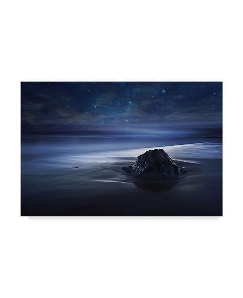 "Trademark Global Sebastien Del Grosso 'Blue Velvet Coast' Canvas Art - 32"" x 2"" x 22"""