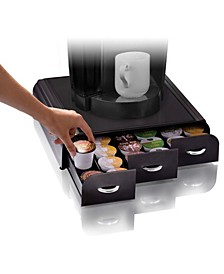 36 Capacity 'Anchor' Triple Drawer K-Cup, Dolce Gusto, CBTL, Verismo, Single Serve Coffee Pod Holder Drawer Metal Mesh