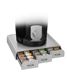 Mind Reader 36 Capacity K-Cup, Dolce Gusto, CBTL, Verismo, Single Serve Coffee Pod Holder Drawer