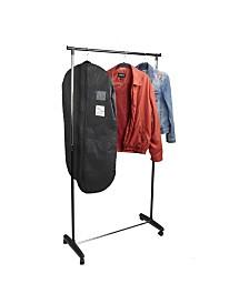 Mind Reader Metal Single Rolling Garment Rack Organizer