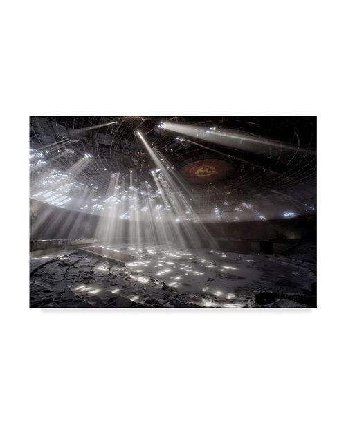 "Trademark Global Milen Dobrev 'Buzludzha' Canvas Art - 19"" x 2"" x 12"""
