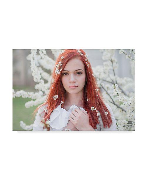 "Trademark Global Tanya Markova 'Red Floral' Canvas Art - 19"" x 2"" x 12"""