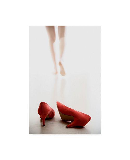 "Trademark Global Williama 'Red Heel Fashion' Canvas Art - 30"" x 2"" x 47"""