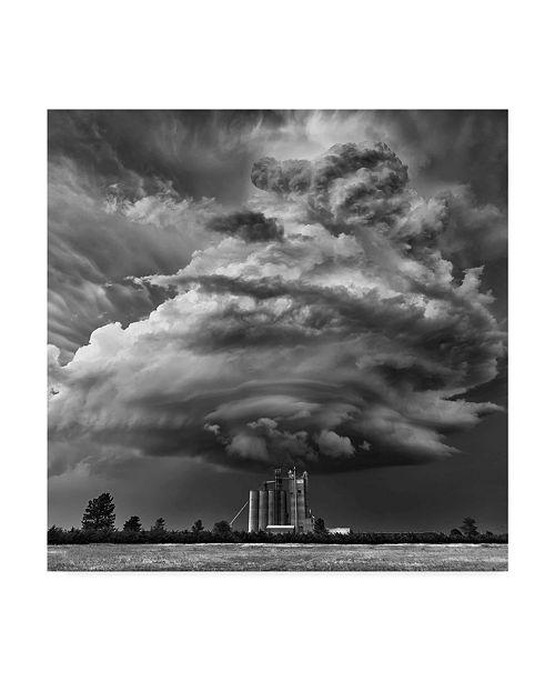 "Trademark Global Rob Darby 'Monochrome Mesocyclone' Canvas Art - 18"" x 2"" x 18"""