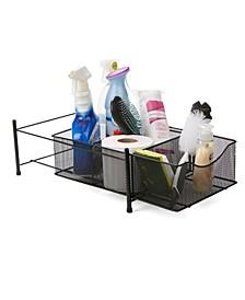 3 Compartment Metal Mesh Storage Baskets Organizer, Home, Office, Kitchen, Bathroom