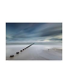 """Rafal Nebelski 'Pier Crossing' Canvas Art - 47"""" x 2"""" x 30"""""""