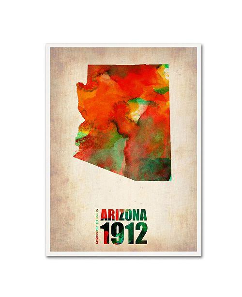 "Trademark Global Naxart 'Arizona Watercolor Map' Canvas Art - 18"" x 24"" x 2"""