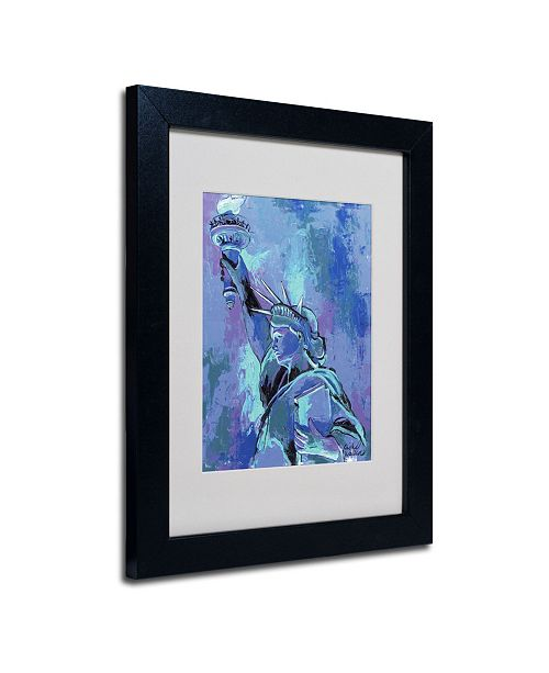 "Trademark Global Richard Wallich 'Statue of Liberty 2' Matted Framed Art - 14"" x 11"" x 0.5"""