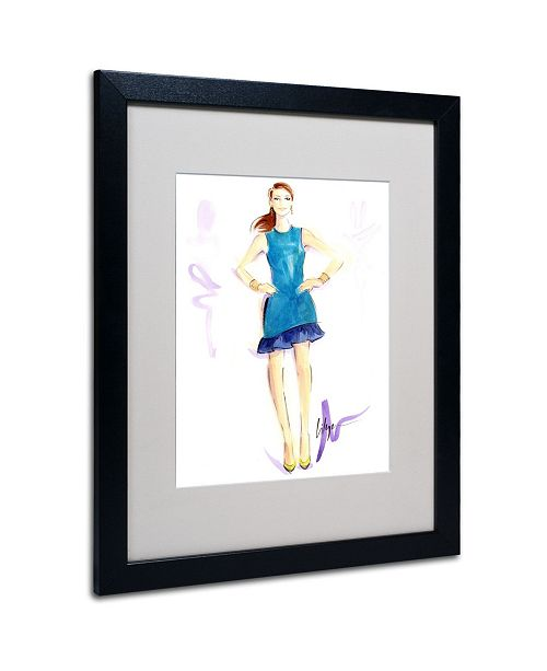"Trademark Global Jennifer Lilya 'Tealing Beauty' Matted Framed Art - 20"" x 16"" x 0.5"""