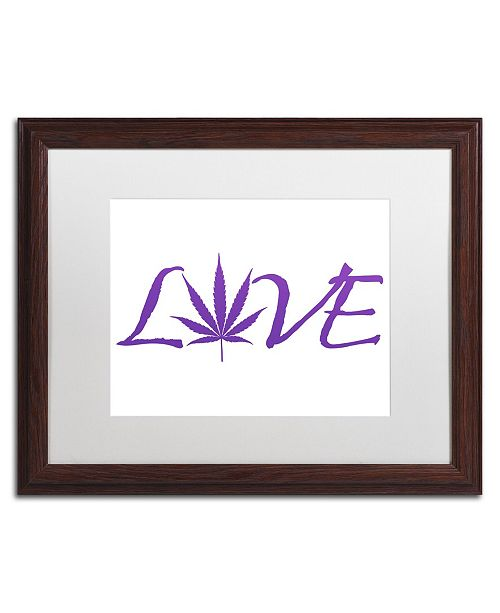 "Trademark Global Potman 'Love' Matted Framed Art - 20"" x 16"" x 0.5"""