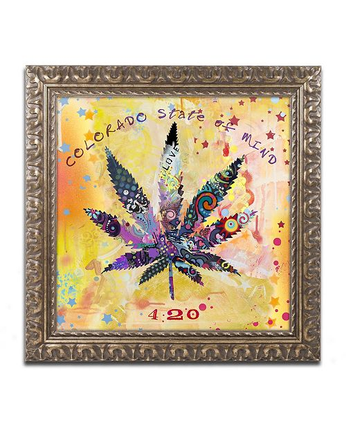 "Trademark Global Potman 'Colorado State of Mind' Ornate Framed Art - 16"" x 16"" x 0.5"""