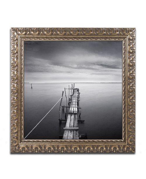 """Trademark Global Moises Levy 'Direction' Ornate Framed Art - 16"""" x 16"""" x 0.5"""""""