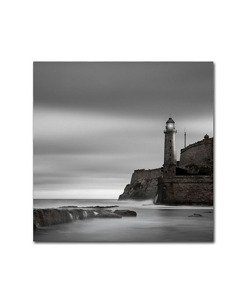 "Trademark Global Moises Levy 'Morro Lighthouse' Canvas Art - 35"" x 35"" x 2"""