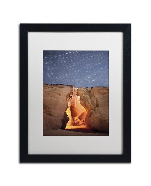 """Trademark Global Moises Levy 'Flame' Matted Framed Art - 16"""" x 20"""" x 0.5"""""""