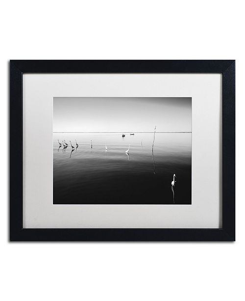"Trademark Global Moises Levy '11 Herons' Matted Framed Art - 16"" x 20"" x 0.5"""