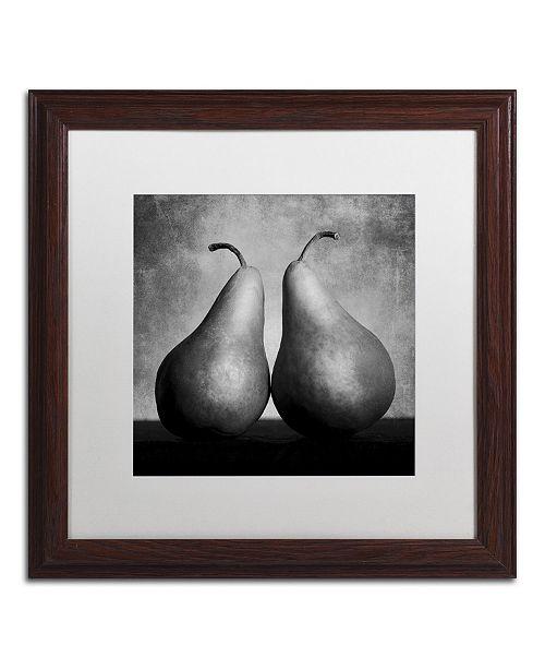 "Trademark Global Moises Levy 'Peras Enamoradas' Matted Framed Art - 16"" x 16"" x 0.5"""