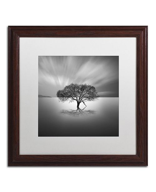 """Trademark Global Moises Levy 'Water Tree VIII' Matted Framed Art - 16"""" x 16"""" x 0.5"""""""