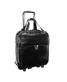 McKlein Siamod Novembre Ladies Vertical Patented Detachable -Wheeled Laptop Briefcase