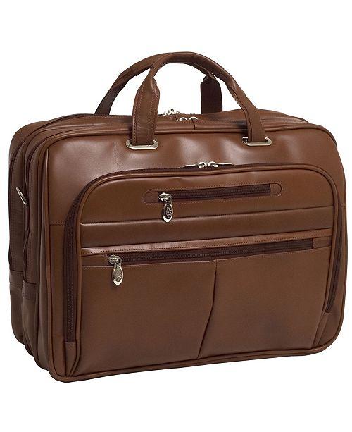 McKlein Rockford Checkpoint-Friendly Laptop Briefcase