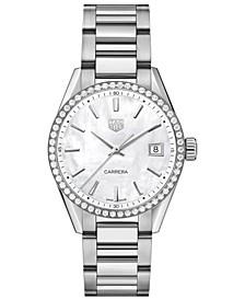 Women's Swiss Carrera Diamond (4/5 ct. t.w.) Stainless Steel Bracelet Watch 36mm