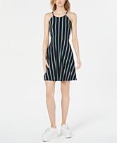 6ba1b1837bb67 Bar III Striped Halter Fit   Flare Dress