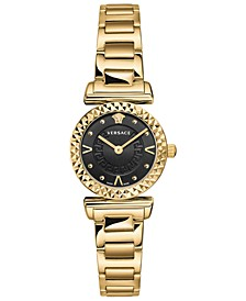 Women's Swiss Mini Vanity Gold Ion-Plated Stainless Steel Bracelet Watch 27mm