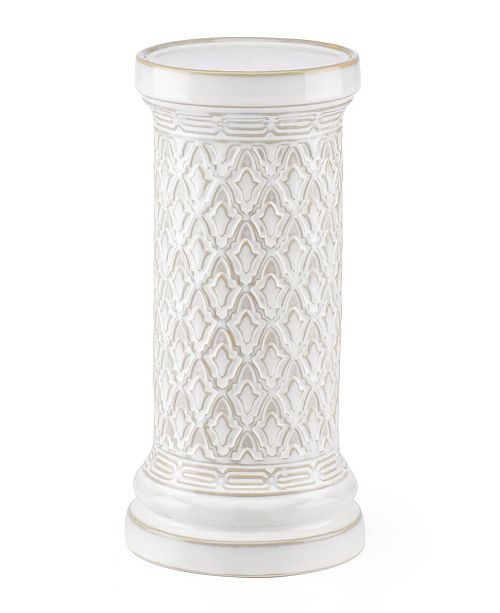 Lenox Global Tapestry Pillar Candle Holder White