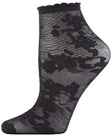 Natori Scarlet Lace Sheer Shortie Socks, Online Only