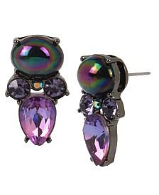 Betsey Johnson Bead & Stone Stud Earrings