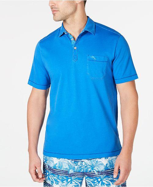 Tommy Bahama Men's Bahama Beach Pigment-Dyed Pima Cotton Polo