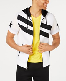 I.N.C. Men's Zip-Front Stripe Hoodie, Created for Macy's