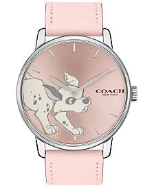 Disney x COACH Women's 101 Dalmatians Grand Pink Leather Strap Watch 40mm