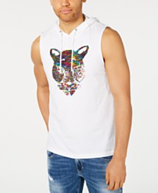 I.N.C. Men's Sequined Panther Hoodie Pride T-Shirt, Created for Macy's