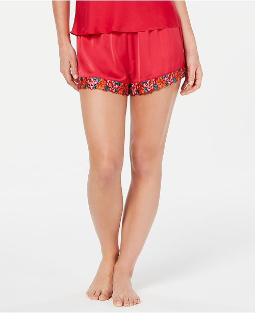 INC International Concepts INC Embroidered Pajama Shorts, Created for Macy's