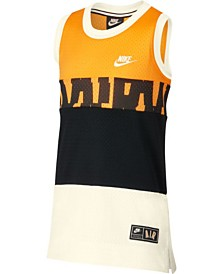 Nike Big Boys Nike Air Colorblocked Mesh Logo Tank