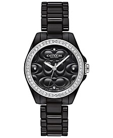 Women's Astor Black Ceramic Bracelet Watch 28mm
