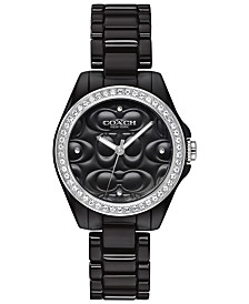 COACH Women's Astor Black Ceramic Bracelet Watch 28mm