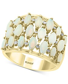 EFFY® Opal (1 ct. t.w.) & Diamond (1/6 ct. t.w.) Statement Ring in 14k Gold