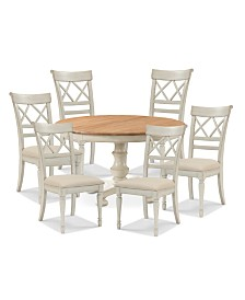 Cottage Dining Furniture, 7-Pc. Set (Table & 6 Side Chairs)