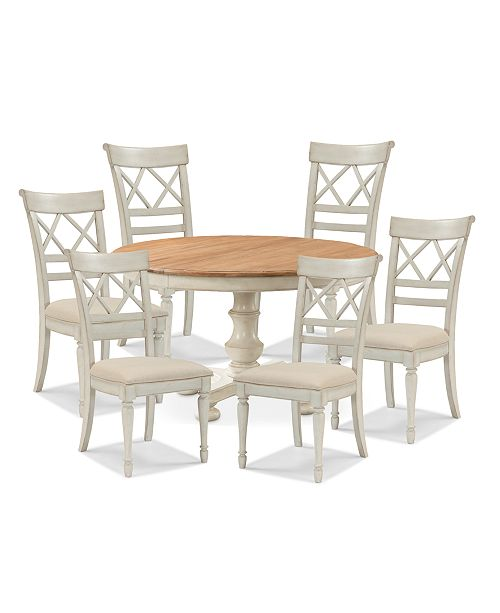 Magnificent Cottage Dining Furniture 7 Pc Set Table 6 Side Chairs Interior Design Ideas Grebswwsoteloinfo